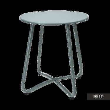 Tisch PLATAN blassgrün/silber mit gekreuztem Gestell