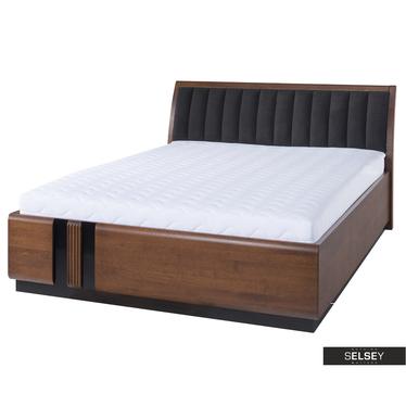 Bett PETIRLY 160x200 cm mit gepolstertem Kopfteil