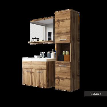 Badmöbel-Set SILLALI 4-teilig mit Waschbecken
