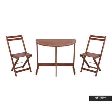 Gartenmöbel-Set SURVIVAL Balkontisch und 2 Klapstühle