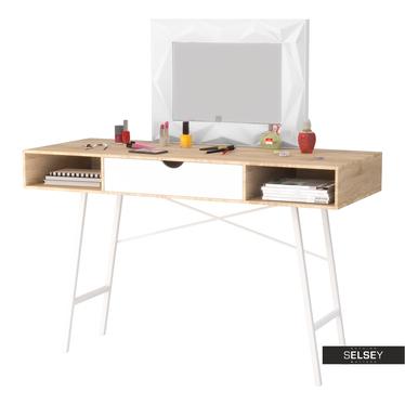 Schreibtisch LORRENIA Sonoma Eiche/weiß mit Schublade