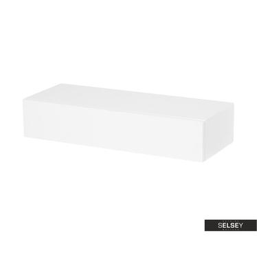 Wandregal DEMARANI Weiß mit Schublade