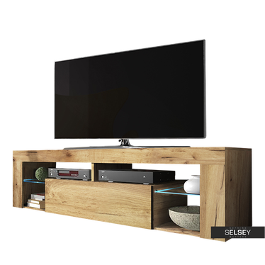 TV-Lowboard BIANKO optional mit LED 140 cm