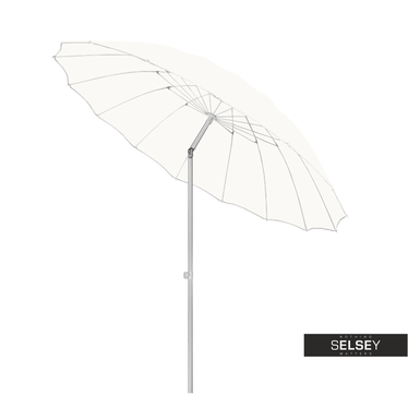 Sonnenschirm regulierbar 240 cm weiß
