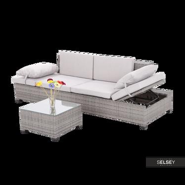 Outdoor-Sofa MAPLE II mit Tisch, grau