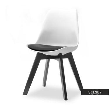 Stuhl LUIS WOOD schwarz/weiß