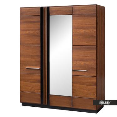 Kleiderschrank PETIRLY 3-türig mit Spiegel
