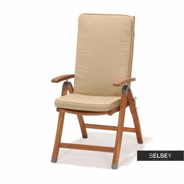 Gartenstuhl CATALINA mit Sitzpolster und Armlehnen, klappbar