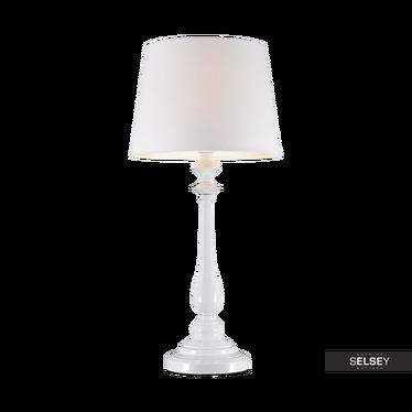 Tischlampe ROMEO weiß mit Stoffschirm