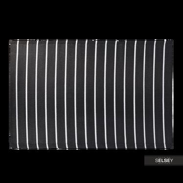 Teppich OUTDOOR schwarz/weiß 120x180 cm mit breiten Streifen