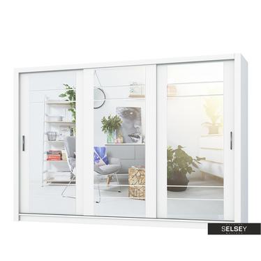 Kleiderschrank LUGAROS 250 cm mit 3 Spiegeln, optional mit LED