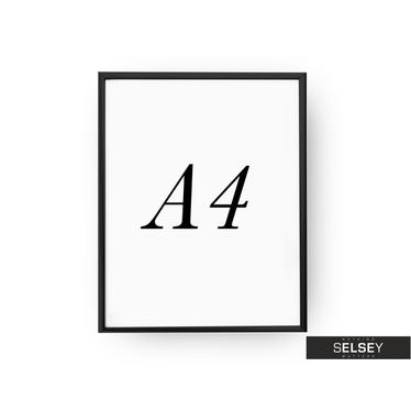 Bilderrahmen A4 schwarz