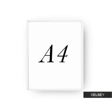 Bilderrahmen A4 weiß