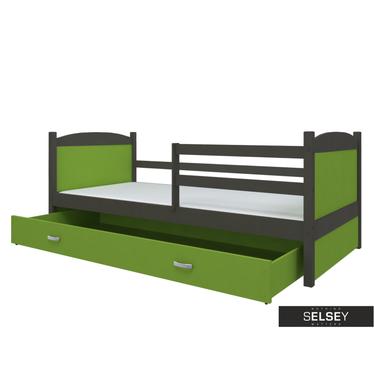 Bett MATEK mit Lattenrost, Schubkasten und Matratze