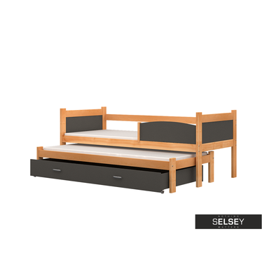 Ausziehbett TOM mit 2 Schlafplätzen, inkl. Bettkasten