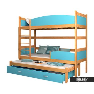 Etagenbett TOM mit 3 Schlafplätzen, inkl. Bettkasten