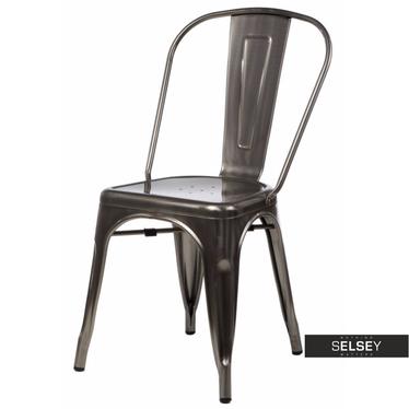 Stuhl PARIS in Metalloptik Tolix Design