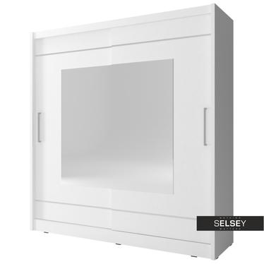 Kleiderschrank ELFLOCK mit quadratischem Spiegel