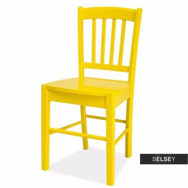Holzstuhl BERGEN gelb