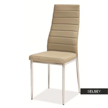 Stuhl LASTAD beige/Chrom