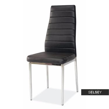 Stuhl LASTAD schwarz/Chrom