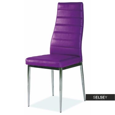 Stuhl LASTAD violett/Chrom