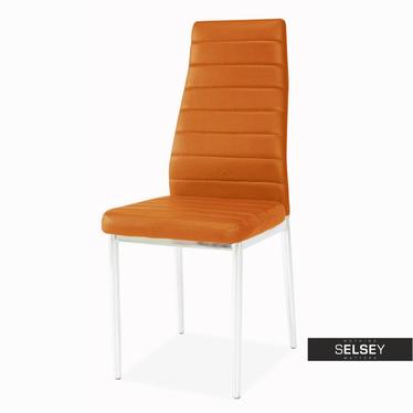 Stuhl LASTAD orange/Chrom