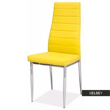 Stuhl LASTAD gelb/Chrom