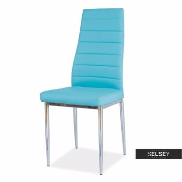Stuhl LASTAD blau/Chrom