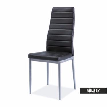 Stuhl LASTAD schwarz/Aluminium