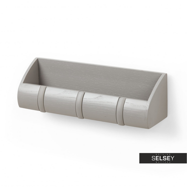 Wandgarderobe CUBBY grau Garderobenleiste mit Ablage