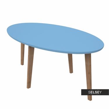 Beistelltisch NORMAN blau oval