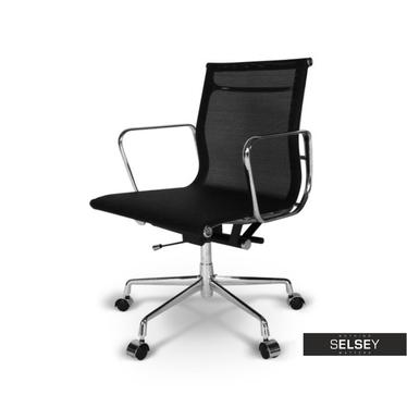 Drehstuhl im Stil EAMES 117 schwarz in Netzoptik