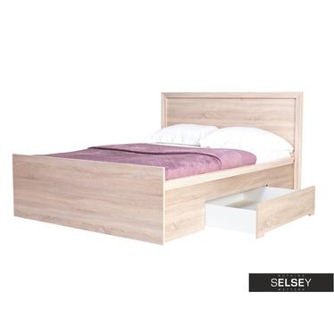 Bett DIQA mit Lattenrost und 2 Schubkästen