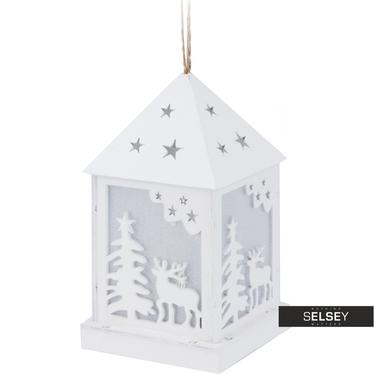 Deko-Häuschen aus Holz mit LED