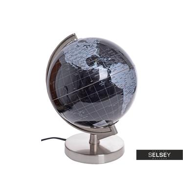 Globus schwarz/grau 20 cm mit Beleuchtung