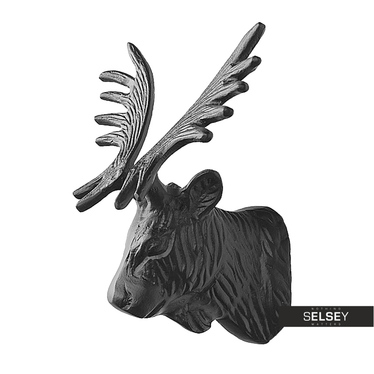Elchkopf schwarz 20 cm