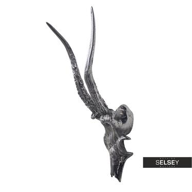Steinbockschädel 34 cm aus Nickel