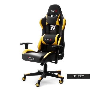 Drehstuhl RACER GTS für Gamer schwarz/gelb