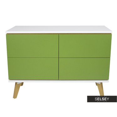 Kommode DAMARO grün mit 4 Schubladen