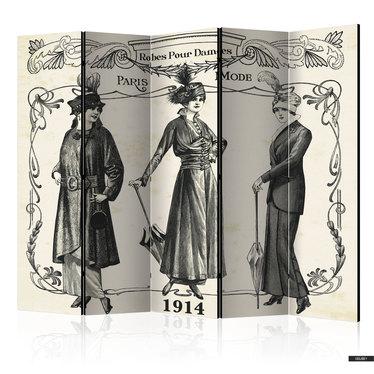 Paravent DRESS 1914 (5-teilig)