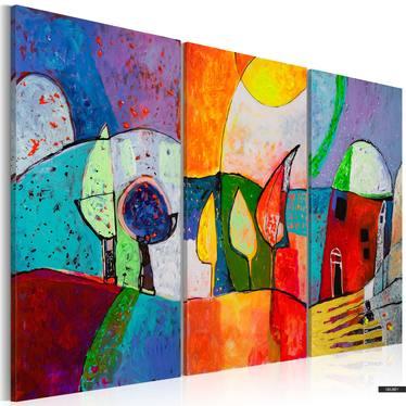 Gemälde BUNTE LANDSCHAFT