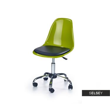 Drehstuhl NELAS aus Kunststoff grün/schwarz