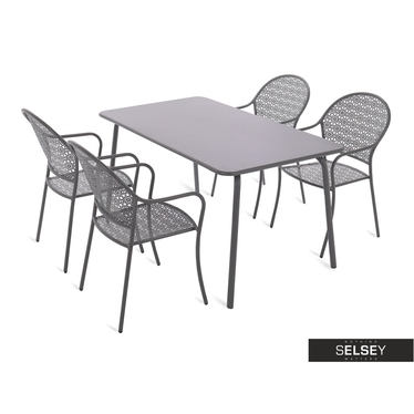 Gartenmöbel-Set FILIGRAN grau