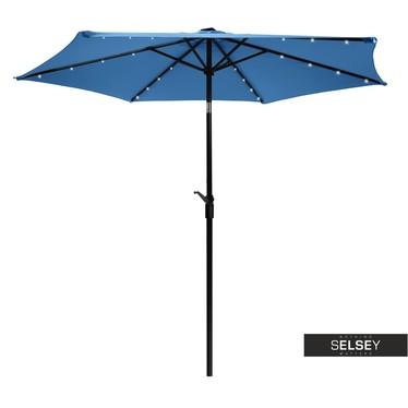 Sonnenschirm mit LED-Beleuchtung blau