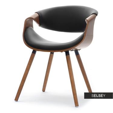 Stuhl BENT Nussbaum/schwarz