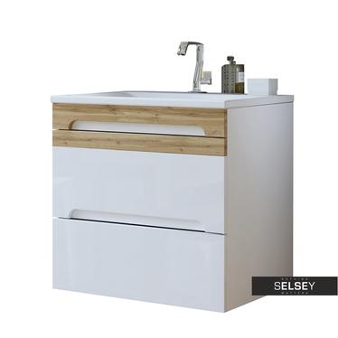 Waschbeckenunterschrank WARNER weiß 60 cm