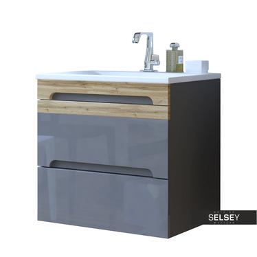 Waschbeckenunterschrank WARNER grau 60 cm
