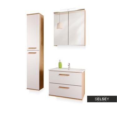 Badezimmermöbel-Set AUSTIN mit Spiegelschrank