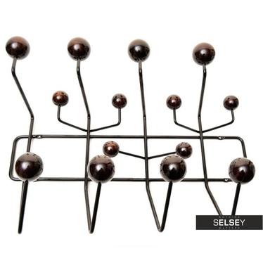 Wandgarderobe BALL schwarz/Nussbaum